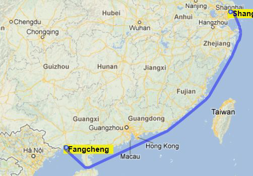 The need for accuracy using a simple computer algorithm with a shore line map of the world to calculate the distance between shanghai and fangcheng would give a figure of 1185 gumiabroncs Images
